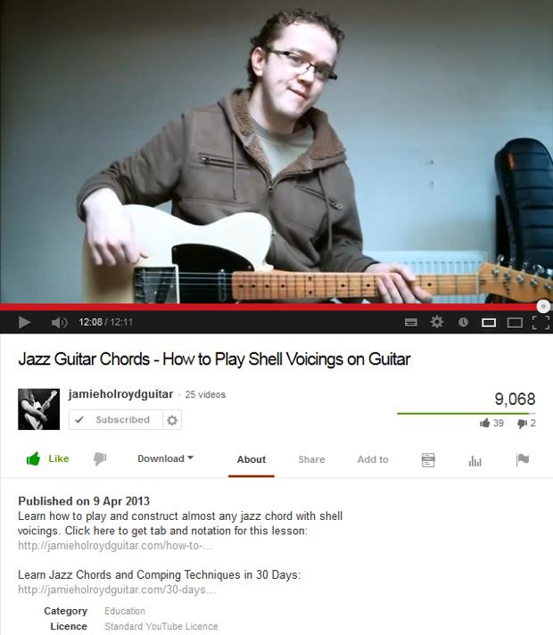 Youtube Guitar Teaching Videos