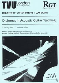 acoustic guitar teaching diplomas