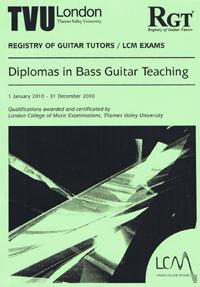 bass guitar teaching diplomas