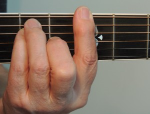 Barre Chords - G major barre guitar chord at 3rd fret